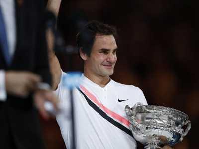 费德勒夺冠喜极而泣 澳网冠军