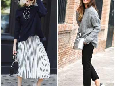 四种简单组合满足你的时尚 高腰伞裙配运动鞋