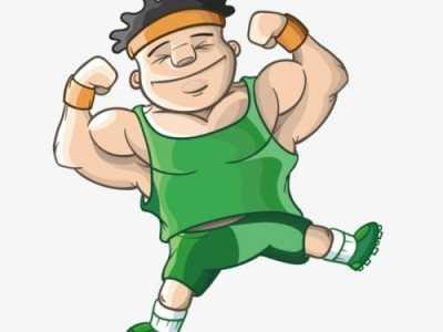 健身图片男卡通图片 健身男卡通图片