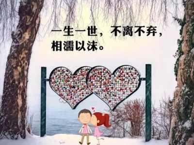 情人节最美的情话 和情人不离不弃的语句