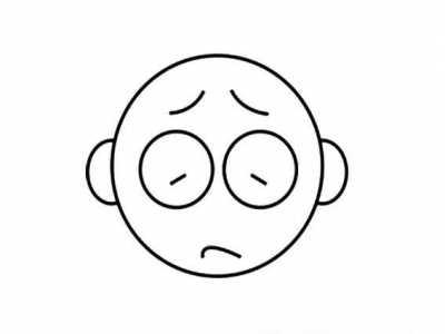 忧伤的表情画法 简画忧伤