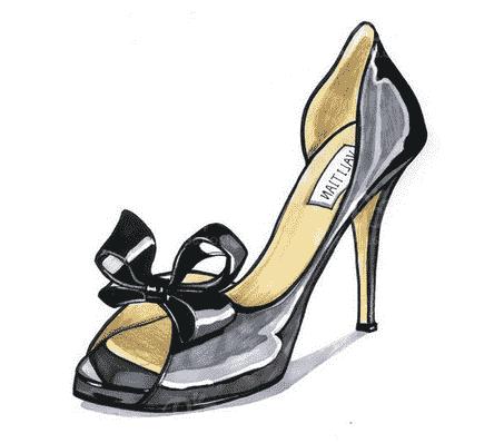 鞋类设计师设计的女鞋手稿 女鞋设计手稿