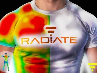 穿上这件发光T恤就知道了 运动发光衣
