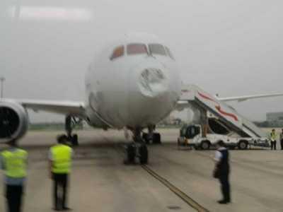 美航波音787北京起飞后遭冰雹 美航波音787选座攻略