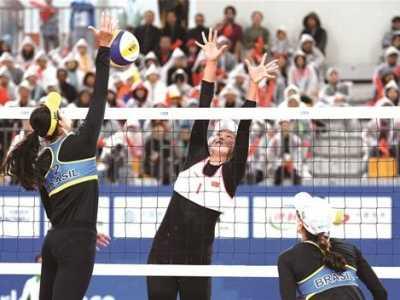 长衣长裤遮不住沙排决赛精彩 中国女子沙滩排球